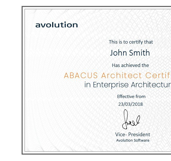 ABACUS Certified Award